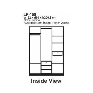Lemari Baju Murah, Lemari Pakaian Expo LP 158 Murah, Bergaransi